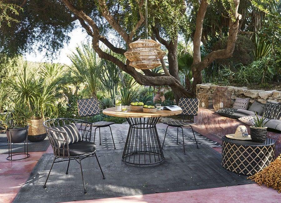 Table De Jardin Ronde Paola En Teck Massif 4 Personnes Table De