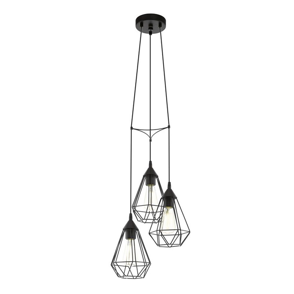 Eglo Tarbes Hanglamp Zwart 3 Lamp O 31 Cm Hanglamp Plafondverlichting Lampen