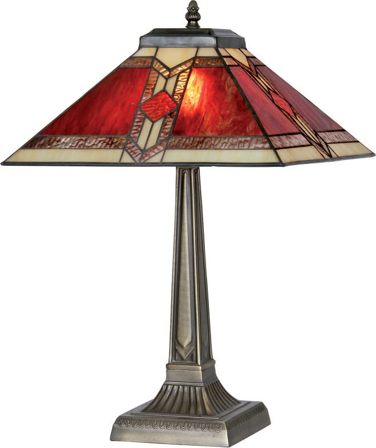 Glass Lamp Art Aztec Table Lamp Tiffany For The House Furnishings And