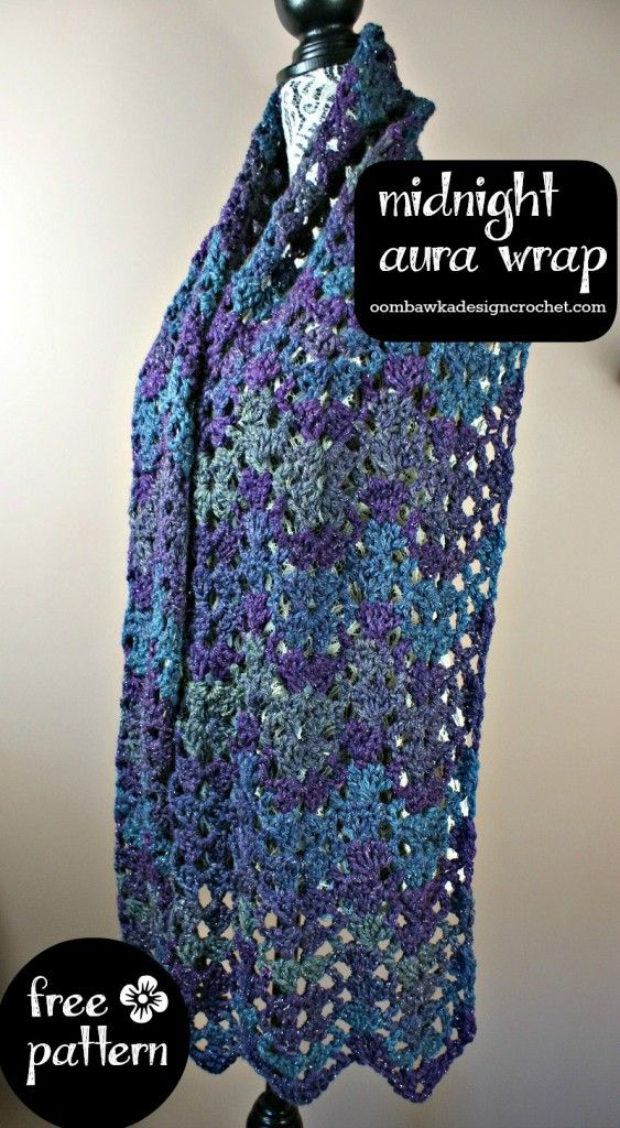 Midnight Aura Wrap Free Pattern from Oombawka Design | Crochet ...