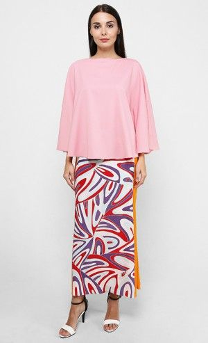 0c5188c131 Plain Cape Top with Batik Skirt in Pink and Orange | Traditional ...