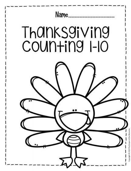 Free Printable Numbers Thanksgiving Preschool Worksheets