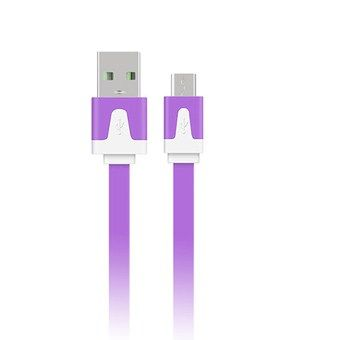 0.5M Android Smartphones Data Cable Charging Noodles USB Cable (Purple) #onlineshopping #lazadaph #lazadaphilippines #onlineshoppingphilippines