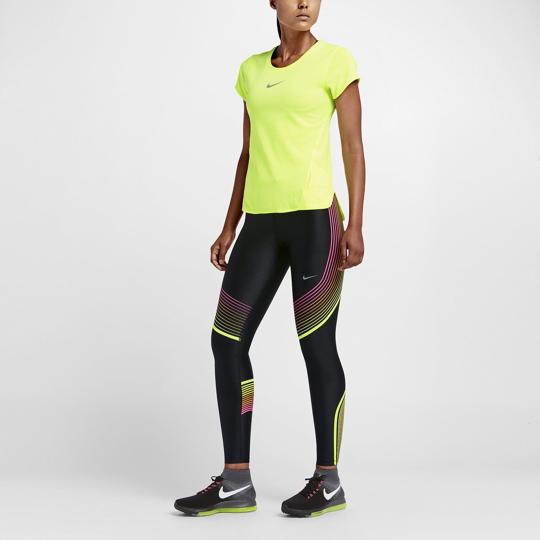 Power nike Hosen Epic Sport Running Nike Schwarz Damen