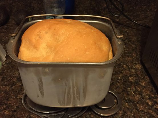 This is a great bread machine recipe that substitutes pineapple juice for the usual water, making it extra flavorful. The ingredient list is for a 1.5 lb loaf.