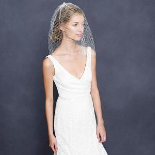 Rhinestone blusher veil - veils & headpieces - Wedding's Bride - J.Crew