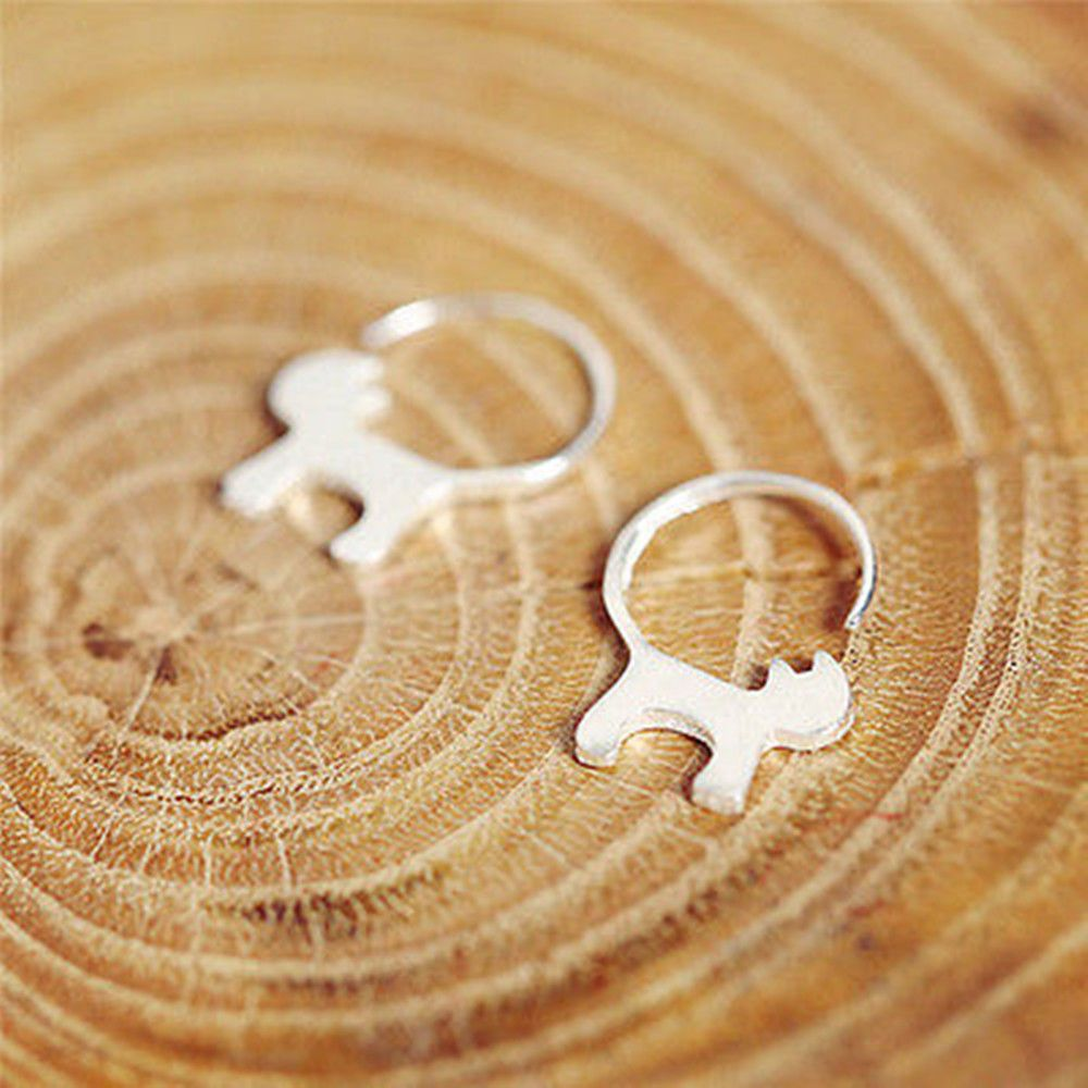 1.0AUD Fashion Animal Long Tail Cat Stud Earrings For