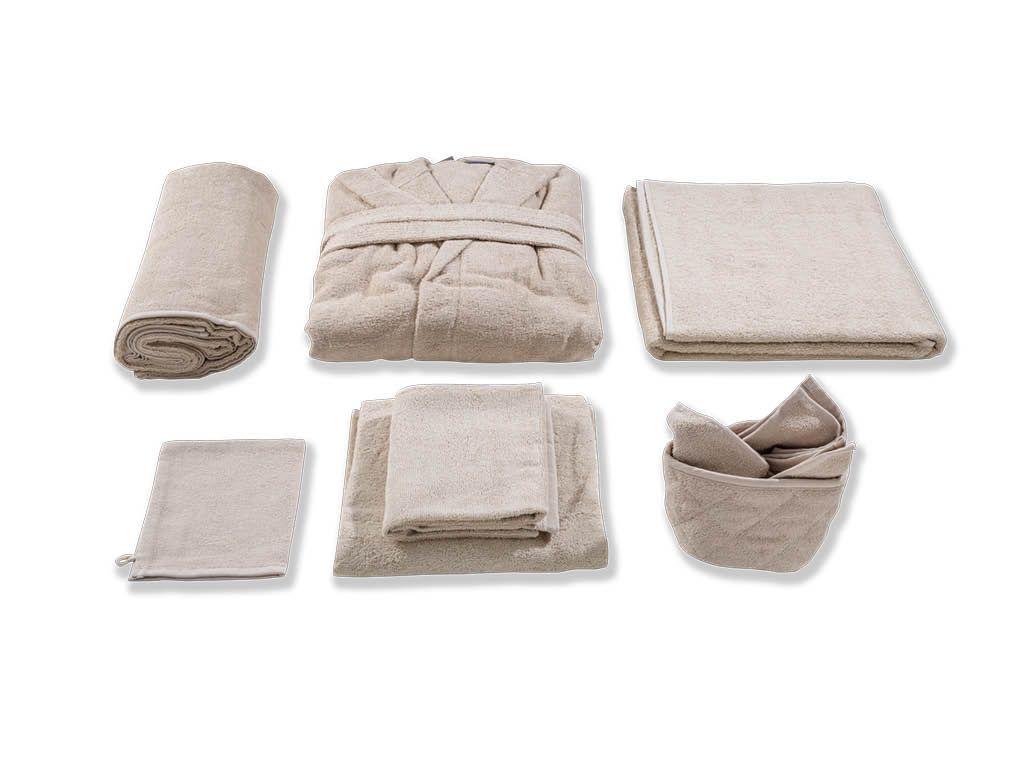 Cipi Bagno ~ Cipì #bamboo basket con 3 lavette w017 #fabric on #bathroom39