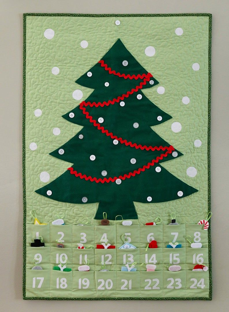 Quilted Advent Calendar And Ornaments Pdf Pattern Etsy In 2021 Christmas Tree Advent Calendar Christmas Countdown Calendar Christmas Advent Calendar