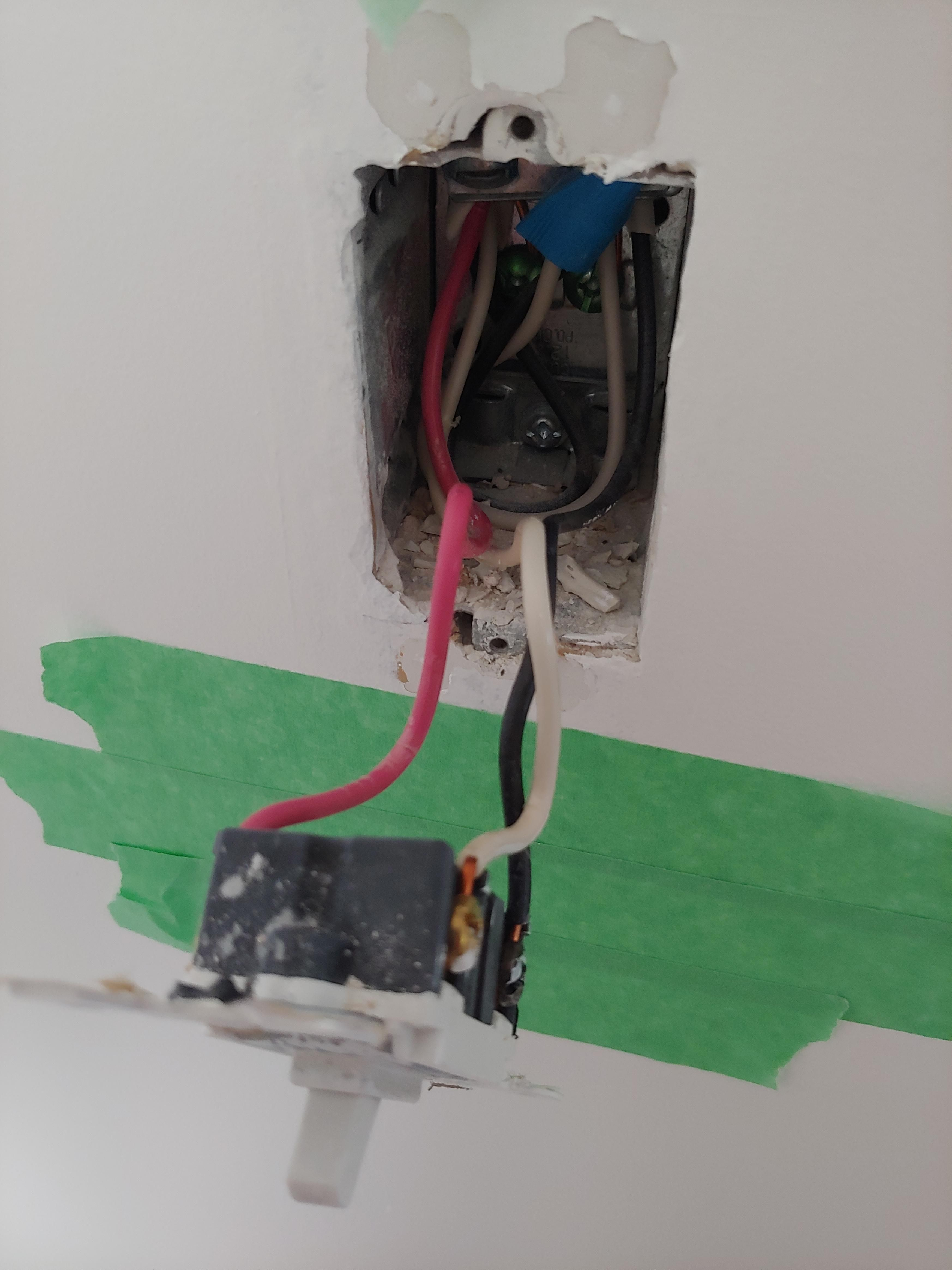 Trying To Install A Dimmer Switch But Wires Don T Match Up Here S What The Original Looked Like The New Dimmer Has 2 Reds Dimmer Switch Dimmer Installation