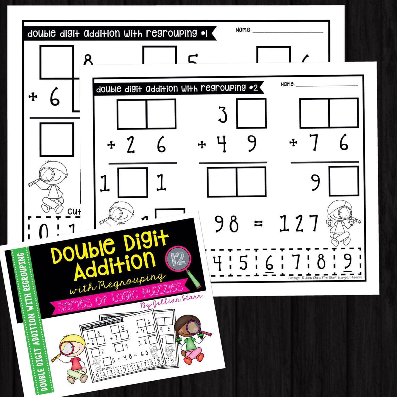 Double Digit Addition With Regrouping Logic Puzzles