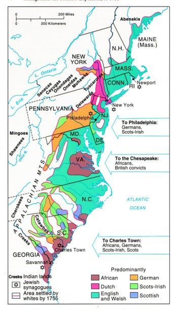 Scots-Irish Migration Map of American Colonies | Ancestry.com Info on