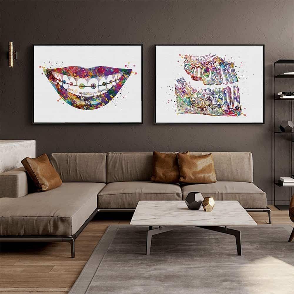 Embrace Your Braces Wall Art in 2020 Dental art, Wall