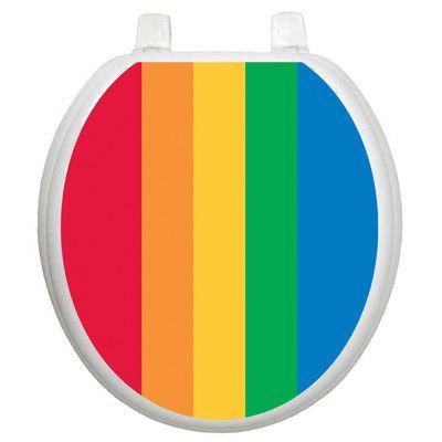 Toilet Tattoos Youth Rainbow Toilet Seat Sticker Toilet Seat Toilet Seat Cover Rainbow Design