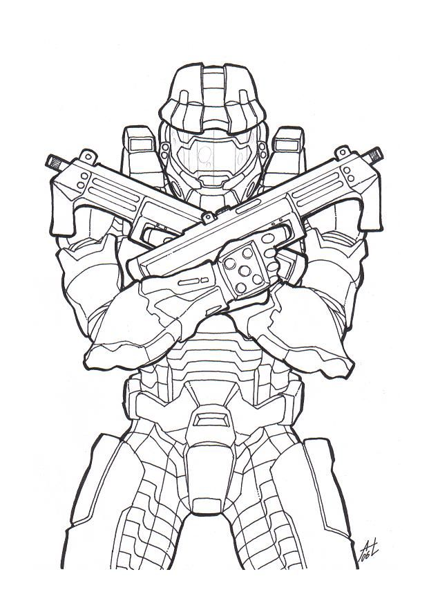 Master Chief Coloring Pages | Coloring Pages | Pinterest | Dibujo