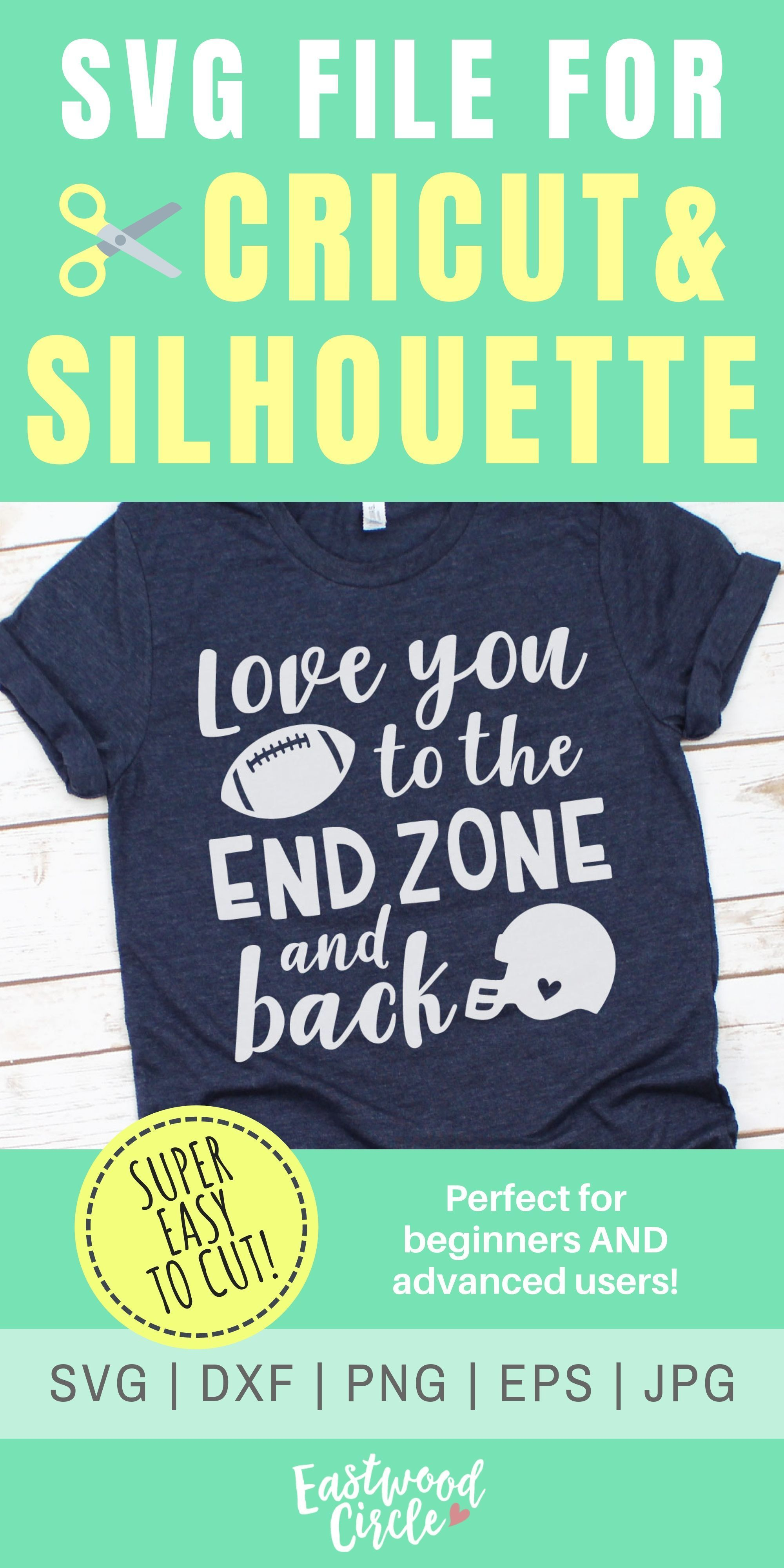 Download Love You to the End Zone and Back svg, Love You to the End ...