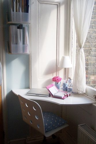 working corner in our miniature flat 2 by Dora iz Londona