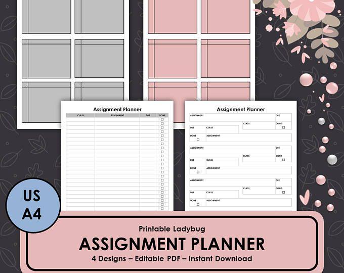 Homework Planner, Homework Log, Student Planner, Assignment Tracker - student homework planner