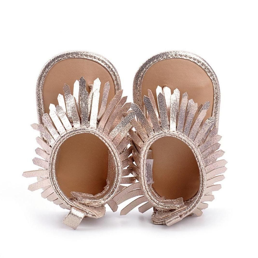 51f15b2b0 Dacawin Newborn Girls Tassels Leather Sandals Shoes 06 Month Gold     Want  additional info  Click on the image. (This is an affiliate link)   ...