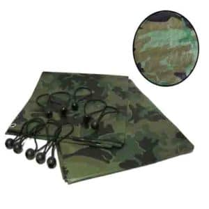 BUNGEE BALLS Camo Camouflage Tarpaulin Strong Army Camping Ground Outdoor