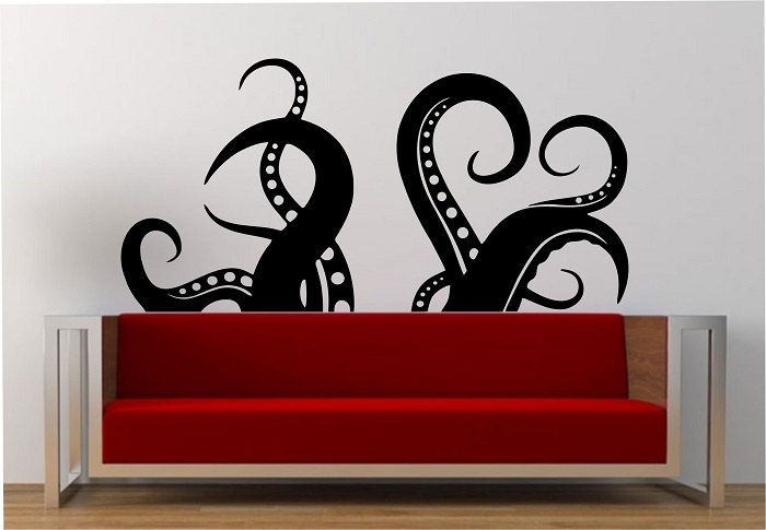 Octopus tentacles wall decal large vinyl sticker by stateofthewall