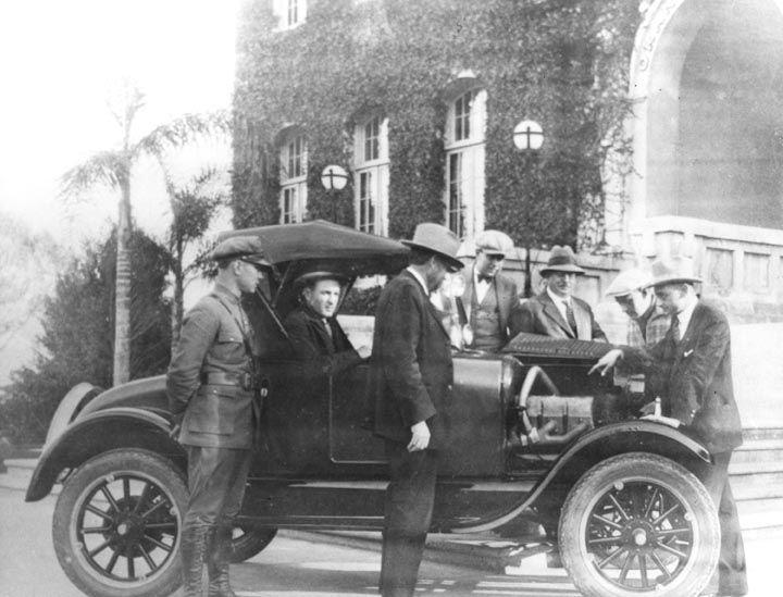 Orange Police Department Automobile In Front Of The Orange City Hall Ca 1930 Summary Orange Police Department Roadster Orange City Ca History Local History
