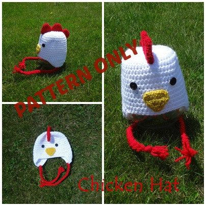 Chicken Hat Crochet PATTERN  89101d2c5bb