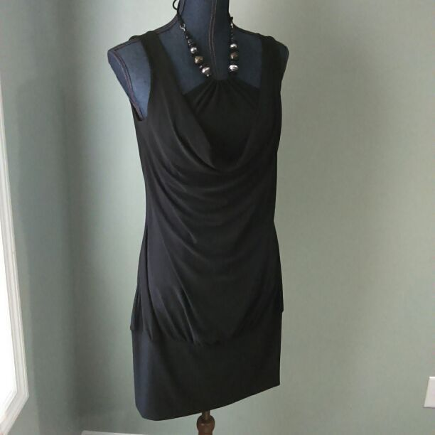 Built in Necklace Cocktail Dress