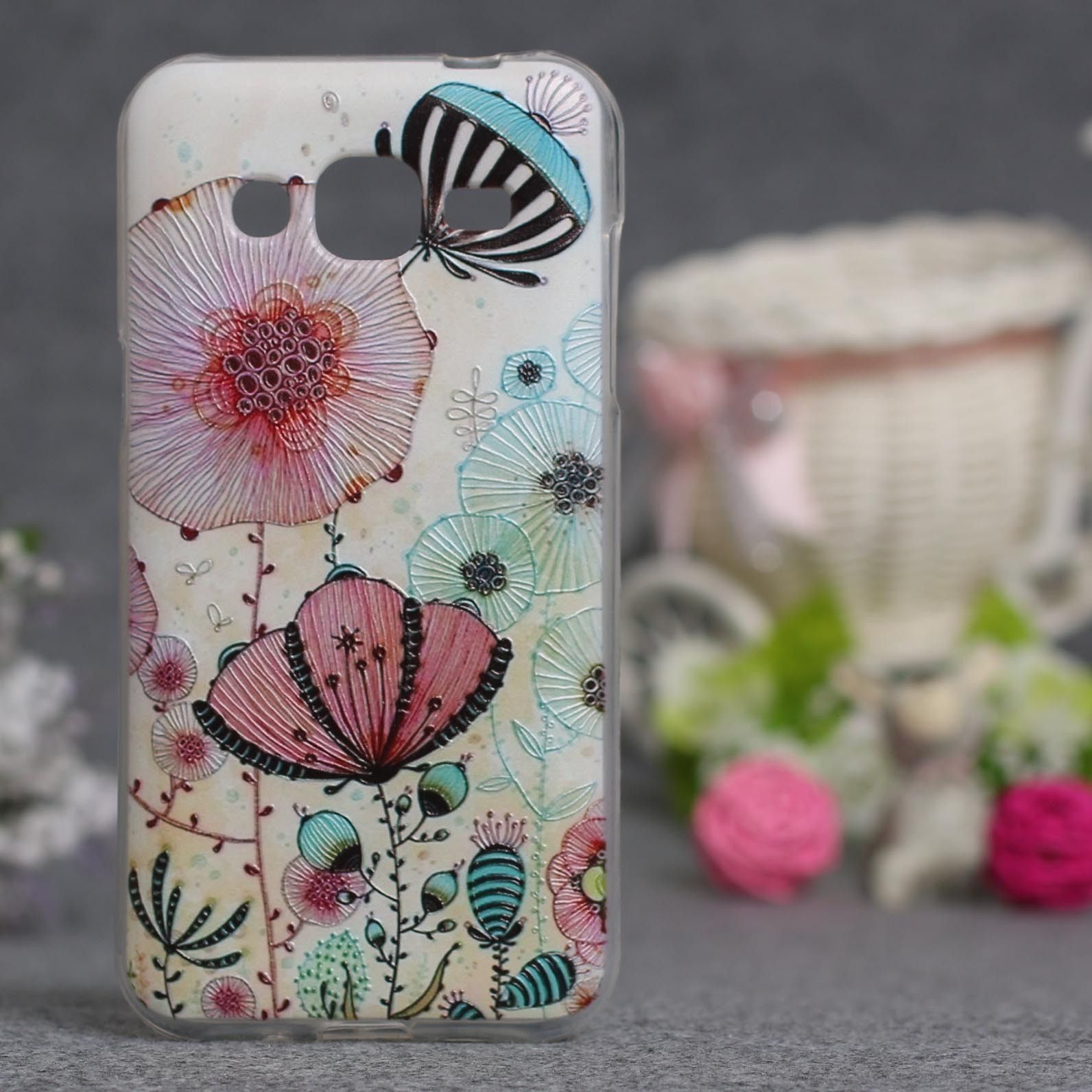 Newest For Galaxy Samsung J2 Case Soft Silicone Tpu Cover Leather Style J200 3d Painting Phone Skin Hood Gel Shell