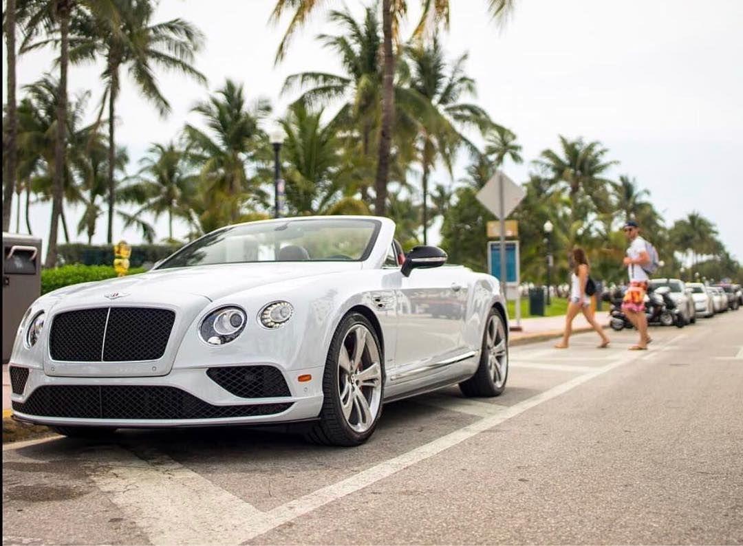 Ride Drop Top Through Ocean Drive In Our Beautiful Bentley Gtc Miami Oceandr Oceandrive