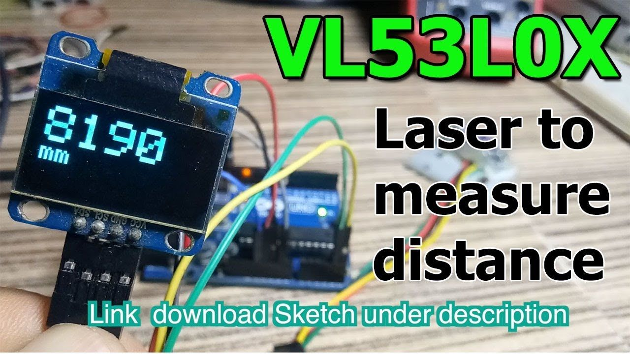 VL53L0X with OLED display distance measure sensor | Hardware