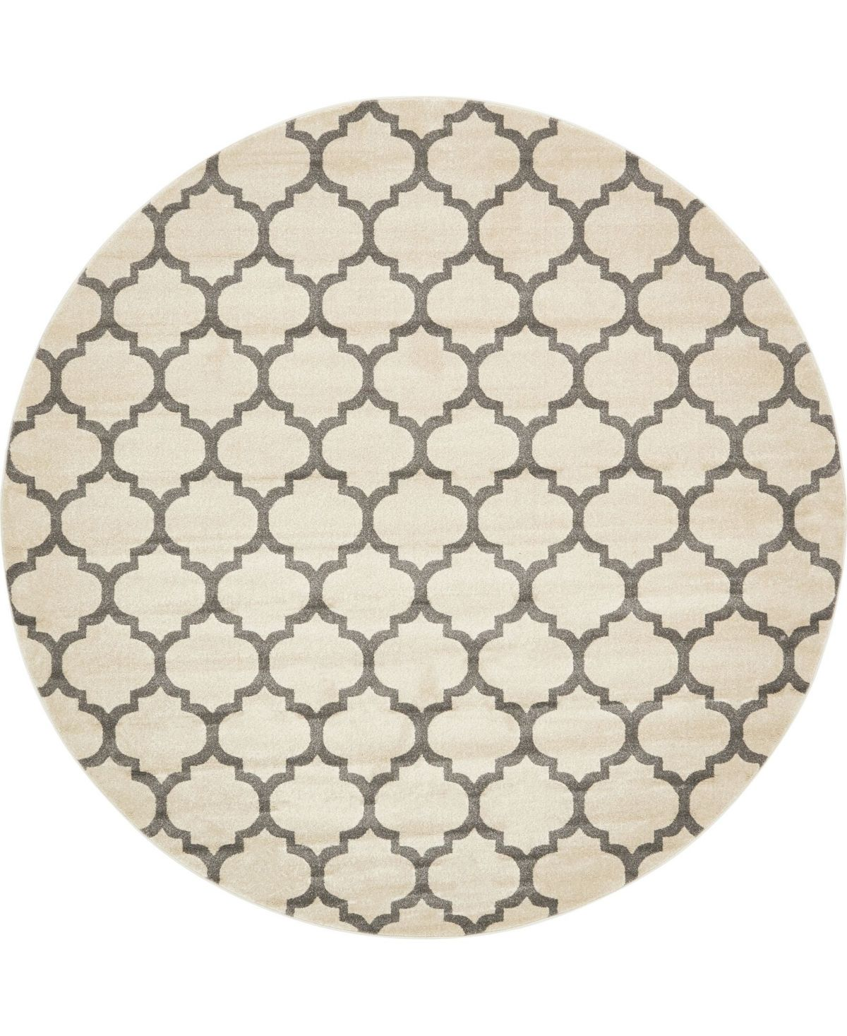 Bridgeport Home Arbor Arb1 Beige Gray 10 X 10 Round Area Rug Reviews Rugs Macy S Round Area Rugs Beige Rugs