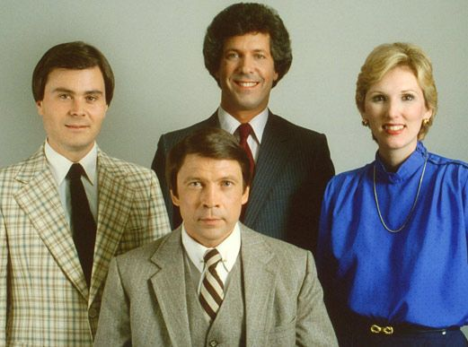 WBTV TEAM IN 1982: Paul Cameron (left), Mike McKay (back