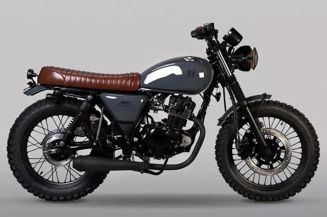 Mutt Hilts 125cc Brat Motorcycle Retro Motorcycle Scrambler Motorcycle