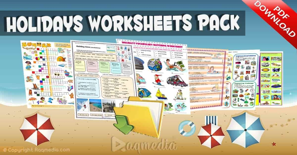 Free Holidays Worksheets Activities And Games In 2021 Holiday Worksheets Esl Lessons Writing Activities