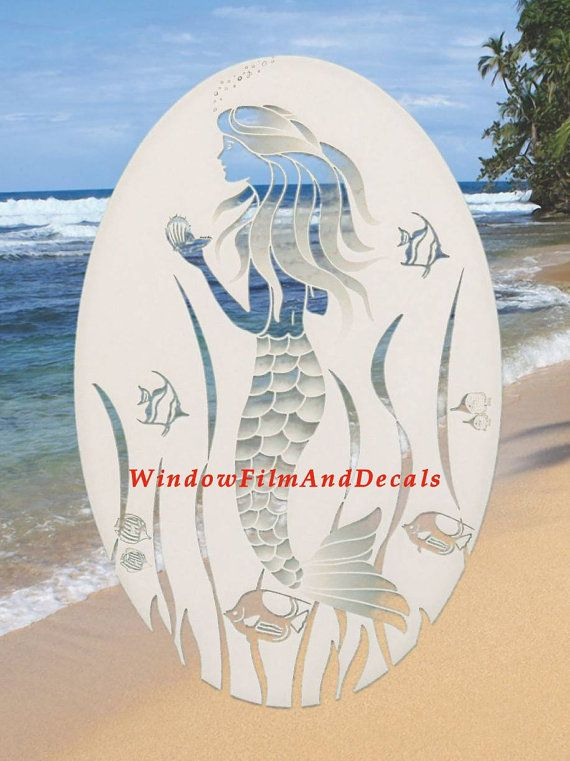 This beautiful etched glass decal is non-adhesive, static cling, vinyl decal that has the look of real etched glass for a fraction of the cost. These elegant decals are removable and reusable. These are easy to use quickly to any shiny smooth glass or plastic surface. Apply them to mirrors, sliding glass doors, patio doors, windows, entrance doors, shower doors, RV's, boats, etc. ****Note: This decal is white and clear only. There is no other color on this decal. Any color you see in the…