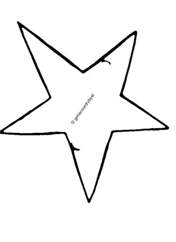 """SET OF FOUR - 4 OPEN STARS 1 7//8/"""" WHITE EMBROIDERED IRON ON PATCHES"""