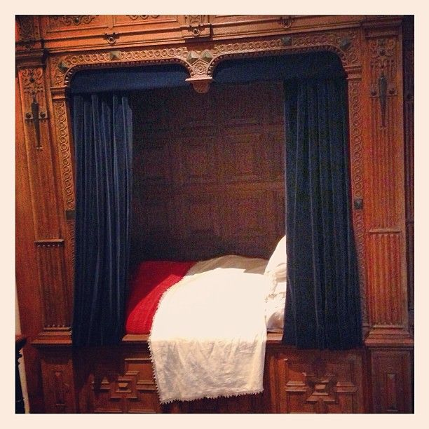 """""""Rembrandt's Bed"""" as seen at Rembrandthuis, Amsterdam."""