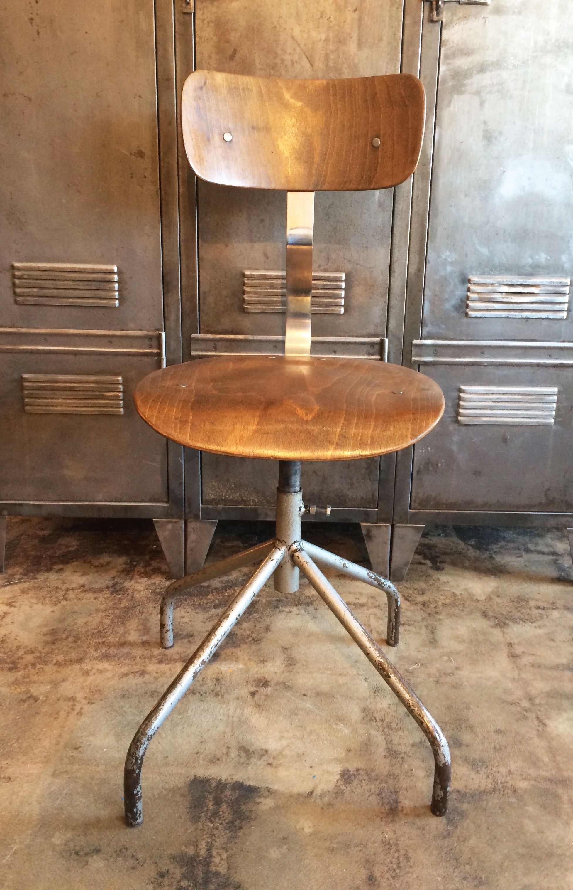 Exceptional French Vintage Factory Stool Chair Industrielle Attitude 4763 Eagle Rock  Blvd. Los Angeles, CA · Vintage Industrial FurnitureIndustrial ...