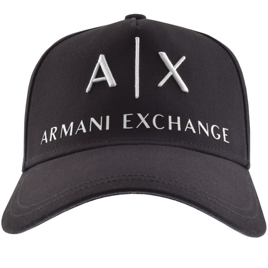 Logo Baseball Cap Navy Armani exchange, Armani, Navy leather