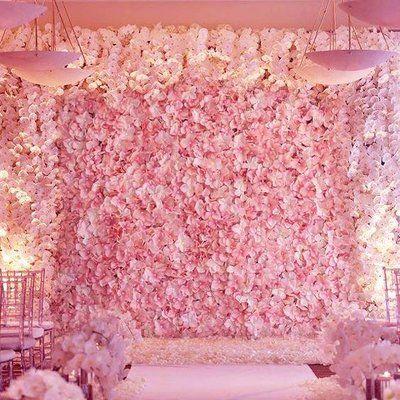 Enovaus Silk Hydrangea Flowers Wedding Party Wall Backdrop Panel Wayfair Flower Wall Wedding Flower Wall Wall Backdrops