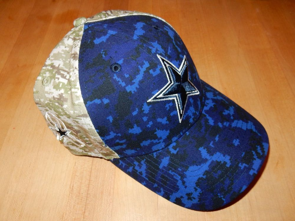 Dallas Cowboys Salute To Service Camo New Era Hat Cap Nwot L xl from ... 05fee9d31