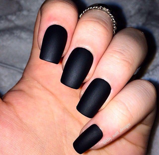 Perfect matte black nails | Nails | Pinterest