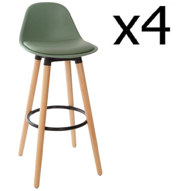 Lot De 4 Tabourets De Bar Kaki L 42 5 X L 39 5 X H 92 Cm Pegane 22jus 157165cx4 Home Decor Decor Stool