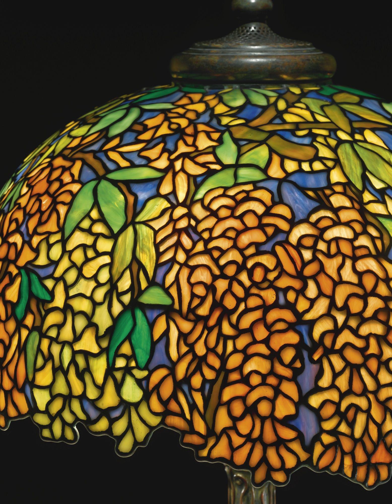 Tiffany Studios New York Quot Laburnum Quot Leaded Glass And