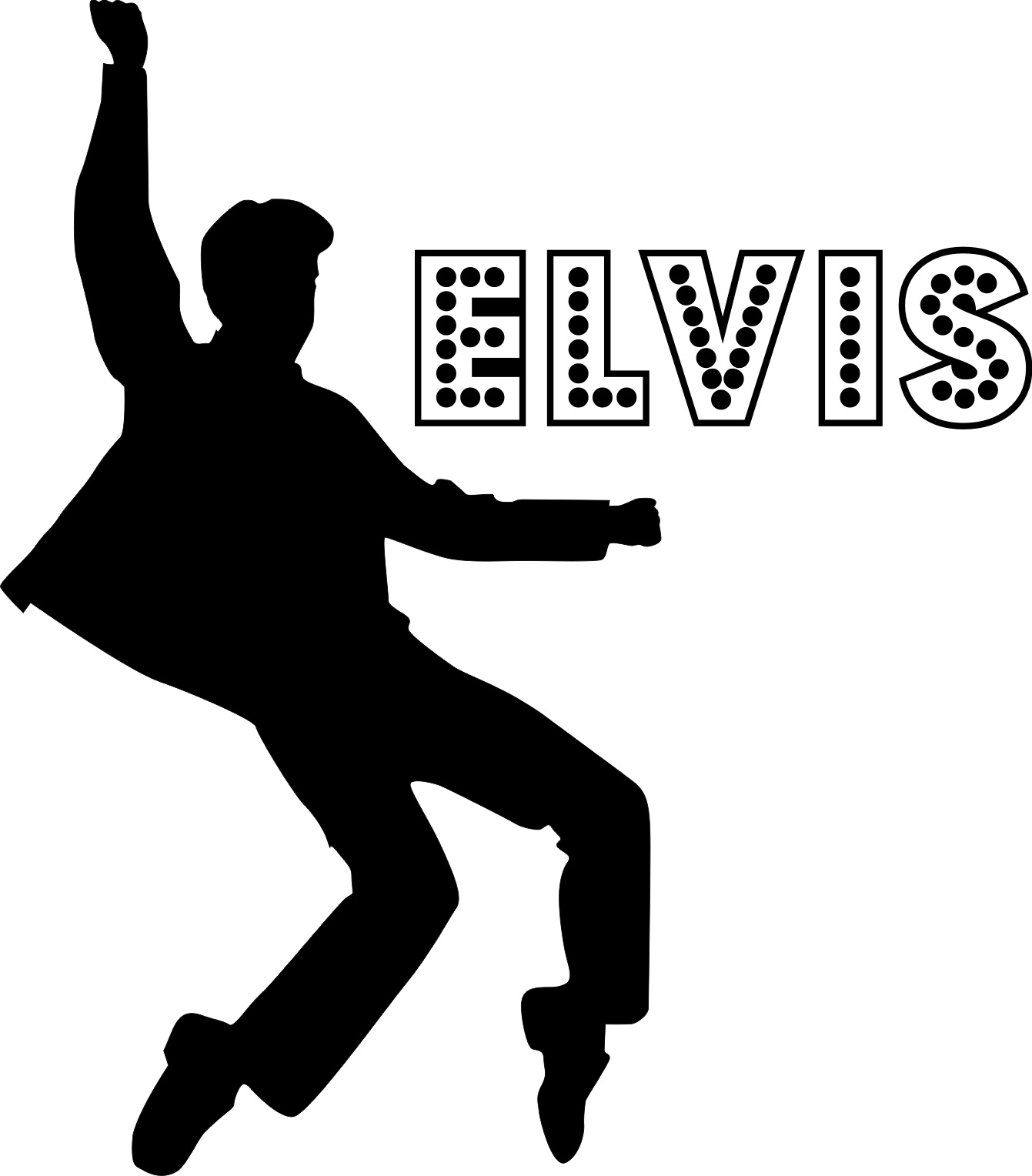 Elvis Presley Guitar Stencil on elvis presley logo clip art