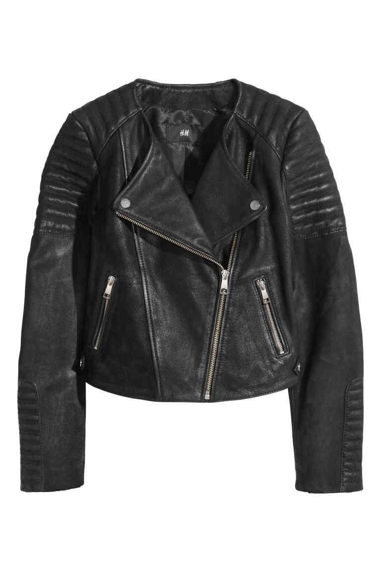 Black De Style Áo En Khoác Jacket Cuir Biker Veste MotardH amp;m xtQrdshC
