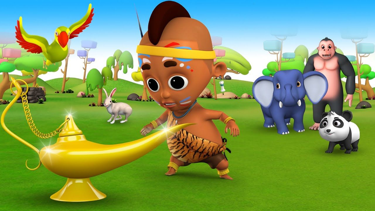 Jungle Baby Fun Play with Aladdin Magic Lamp to Learn