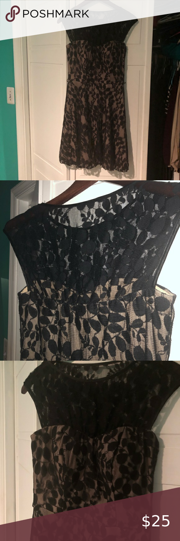 Black Lace Dress With Sheer Top Black Lace Dress Lace Dress Speechless Dress [ 1740 x 580 Pixel ]