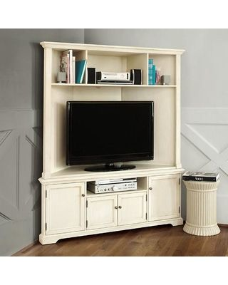 Ballard designs ballard designs reston corner media console with hutch from ballard designs bhg com shop